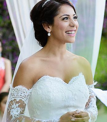 Beautiful wishful bride by Professional Hair Stylist and Makeup Artist