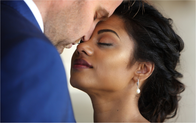 Beautiful wedded couple by Professional Hair Stylist and Makeup Artist